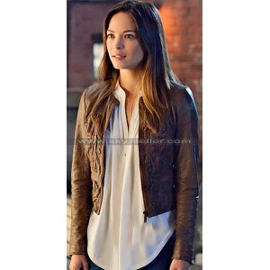 Beauty and the Beast Kristin Kreuk Brown Jacket