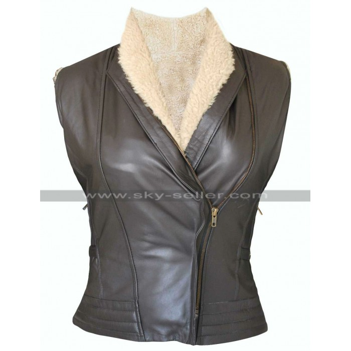 Laurie Holden Walking Dead Andrea Harrison Fur Vest