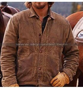 Luke Grimes Yellowstone Leather Brown Jacket