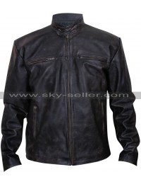 The Shield Michael Chiklis (Vic Mackey) Distressed Black Jacket