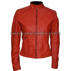 Minority Report Meagan Good Red Leather Jacket