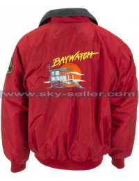 David Hasselhoff Baywatch Lifeguard Bomber Jacket