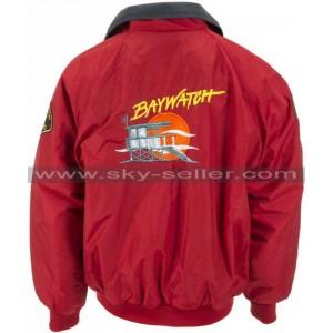 David Hasselhoff Baywatch Lifeguard Bomber Jacket
