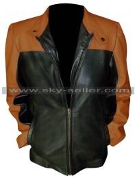 Law & Order SVU Mariska Hargitay Leather Jacket in Black and Brown