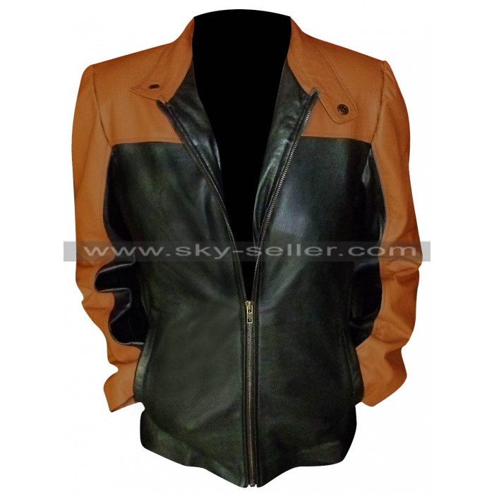 Law & Order SVU Mariska Hargitay Leather Jacket in Black and Brown