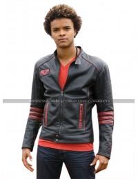 Power Rangers RPM Scott Truman Red Stripes Black Leather Jacket