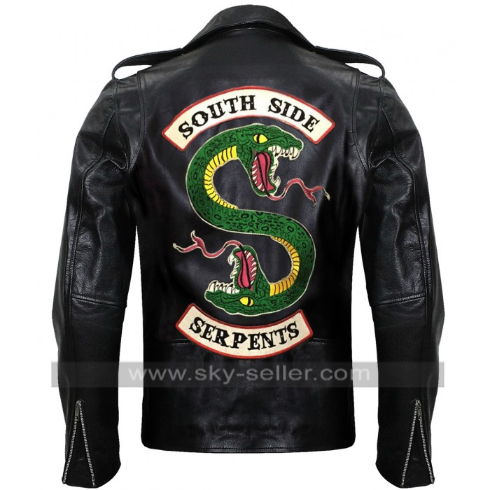 Riverdale Southside Serpents Jughead Leather Jacket For Men