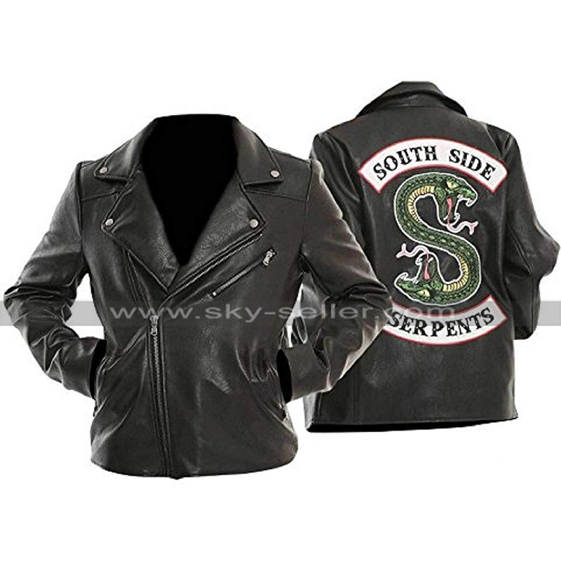 Womens Riverdale Southside Serpents Jughead Biker Black