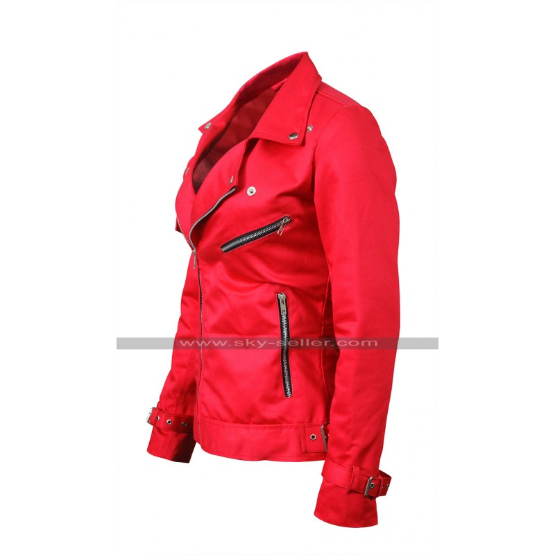 0ccd54da7136 Riverdale Southside Serpents Cheryl Blossom Red / Black Leather Jacket For  Women