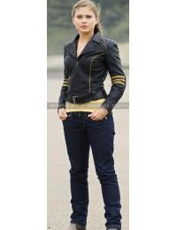 Rose McIver Power Rangers RPM Yellow Ranger Leather Jacket