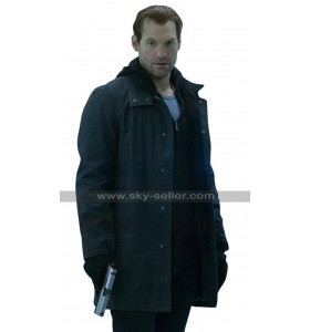Ephraim Goodweather The Strain Corey Stoll Black Cotton / Leather Coat