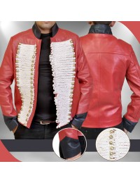 Captain John Hart Torchwood Red Leather Jacket