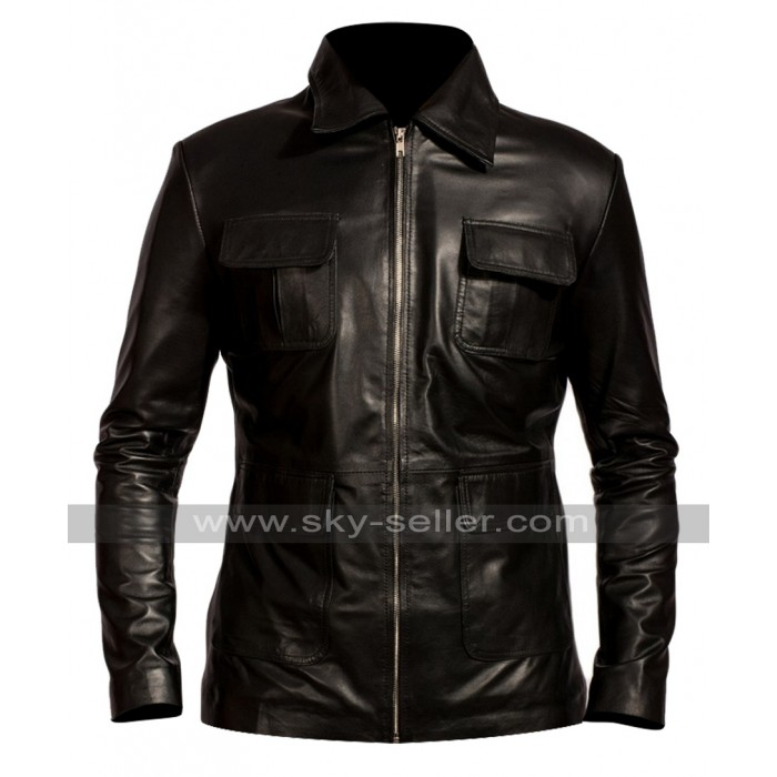 Vampire Diaries Damon Salvatore Black Leather Jacket
