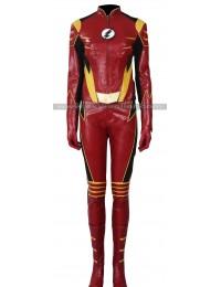 The Flash Season 3 Jesse Quick Leather Costume