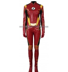 The Flash Season 3 Jesse Quick Leather Costume