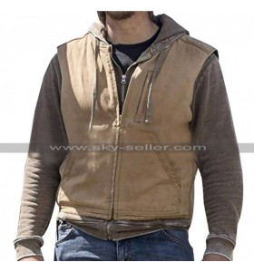 Luke Grimes Yellowstone Kayce Dutton Brown Cotton Vest