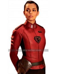 Krypton TV Series Lyta Zod Georgina Campbell Red Leather Jacket