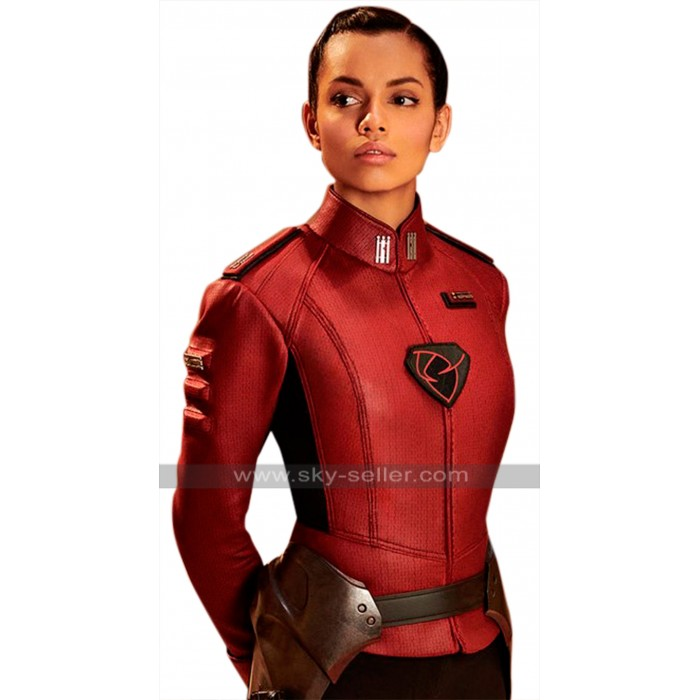 Krypton TV Series Lyta Zod Georgina Campbell Red Leather Jacket
