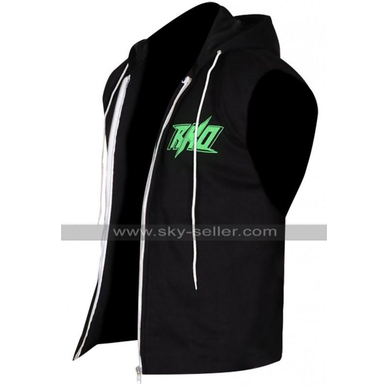 978b40415 WWE Wrestler Randy Orton RKO Hoodie Fleece Black Vest