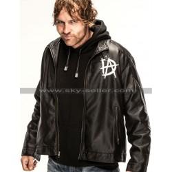 Dean Ambrose Logo Black Leather Jacket