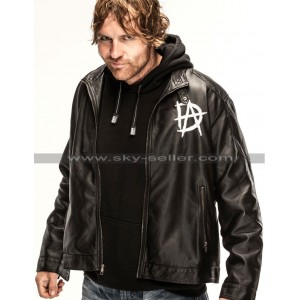 Dean Ambrose Logo Black Leather Jacket