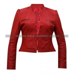 Diva Aksana WWE Red Leather Jacket