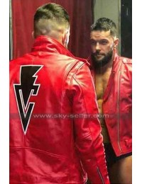 WWE RAW Finn Balor Red Biker Leather Jacket