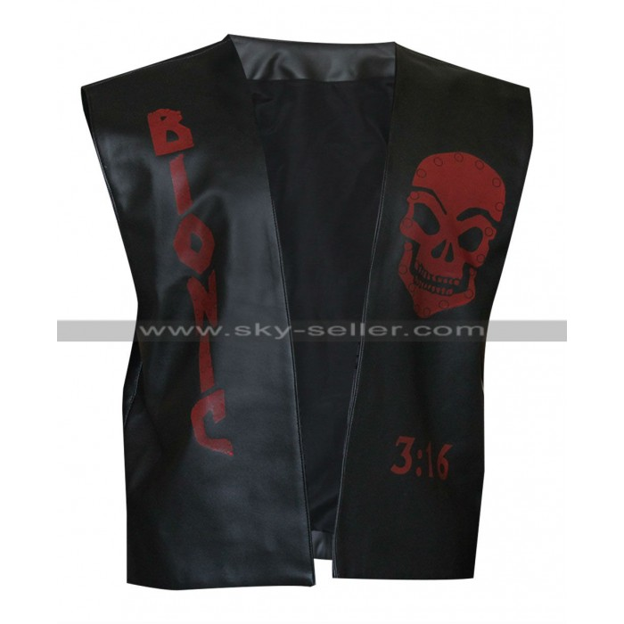 Stone Cold Steve Austin Broken Skull Leather Vest