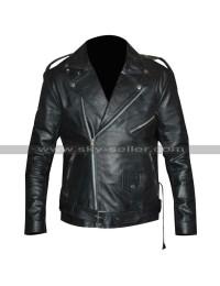 Triple H Black Leather Jacket | Triple H Patch Denim Vest