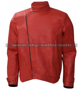 Shinsuke Nakamura WWE Wrestler Red Leather Jacket