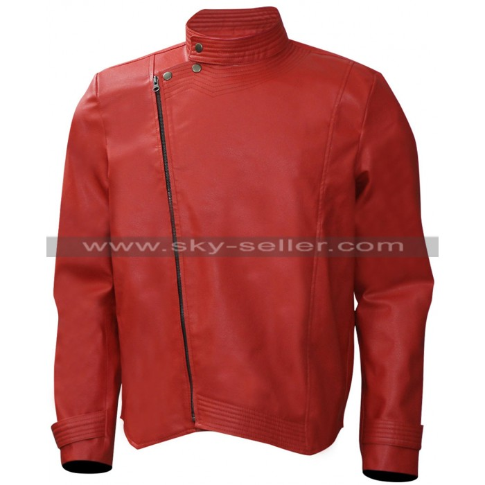 Shinsuke Nakamura WWE Wrestler Red Leather Jacket