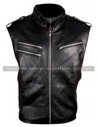 WWE Wrestler Dave Bautista Black Leather Vest