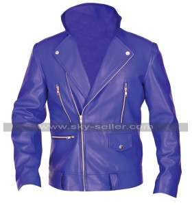 WWE Wrestler Finn Balor Blue Brando Biker Leather Jacket