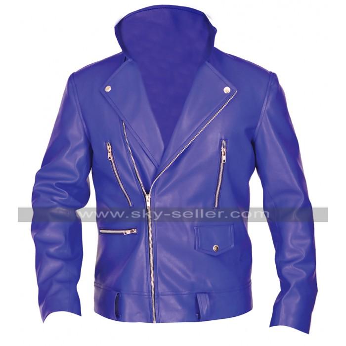 WWE Wrestler Finn Balor Blue Brando Biker Leather Jacket