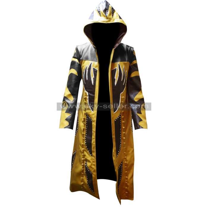 WWE Wrestler Goldust Hooded Leather Coat