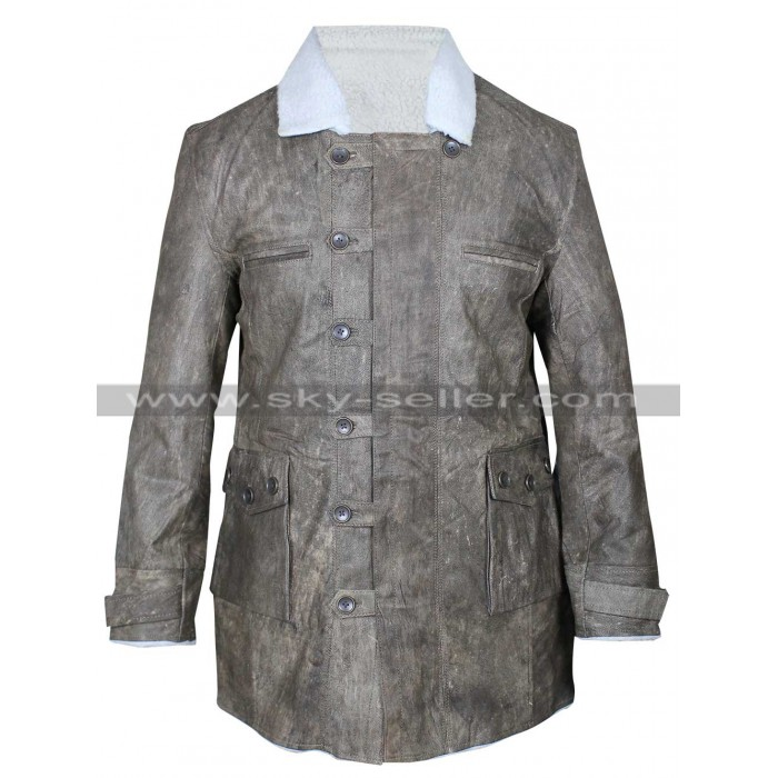 Dark Knight Rises Bane Grey Crocodile Coat