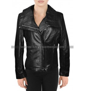 Alessandra Ambrosio Victoria's Secret Black Leather Jacket