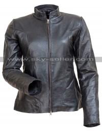 Comic Con Angelina Jolie Motorcycle Black Leather Jacket