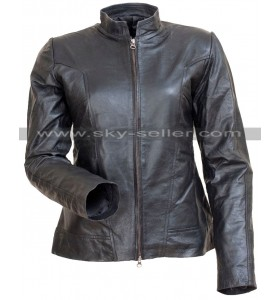 Comic Con Angelina Jolie Motorcycle Black Leather Jacket
