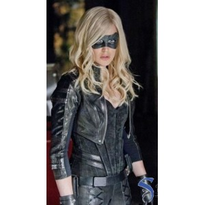 Black Canary Arrow Katie Cassidy Costume Leather Jacket