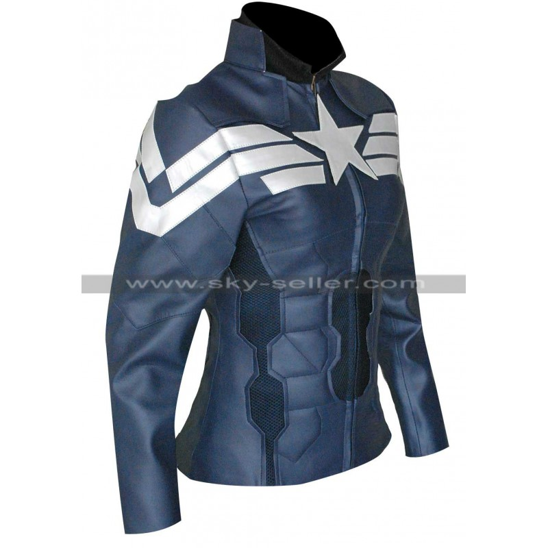 Soldier Captain America Ladies Jacket