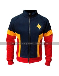 Carol Danvers Captain Marvel Costume Jacket Brie Larson Cotton Tracksuit