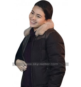 Colleen Wing Iron Fist Jessica Henwick Fur Collar Black Bomber Parachute Jacket