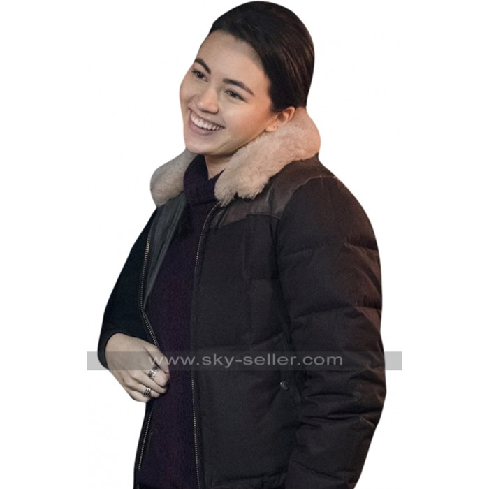 Colleen Wing Iron Fist Jessica Henwick Fur Collar Black Bomber Parachute Jacket