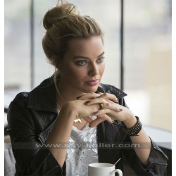 Focus Margot Robbie (Jess Barrett) Black Leather Jacket