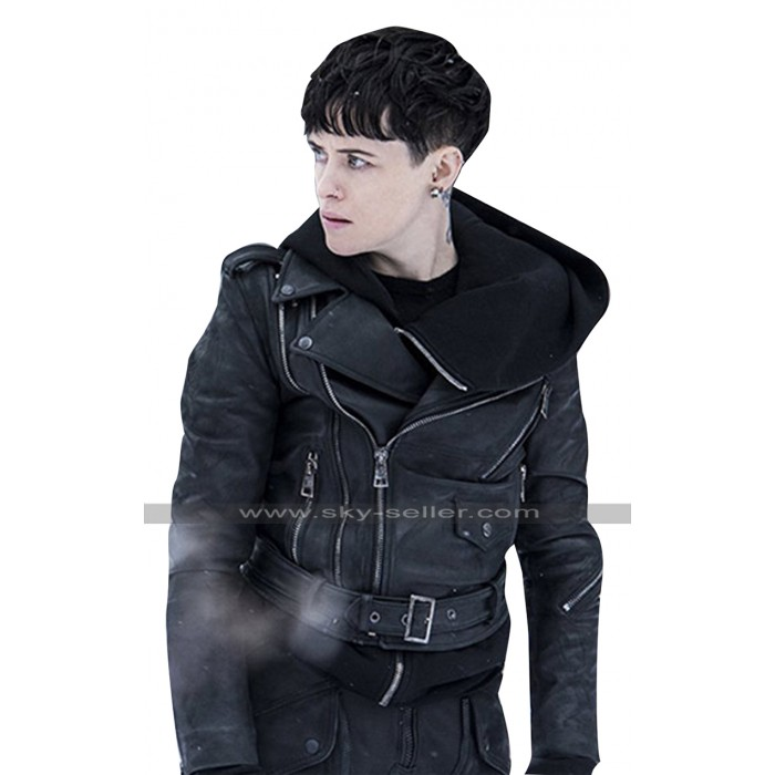 The Girl in the Spiders Web Claire Foy Black Leather Jacket