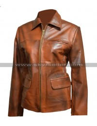 Hunger Games Katniss Everdeen Brown Leather Jacket