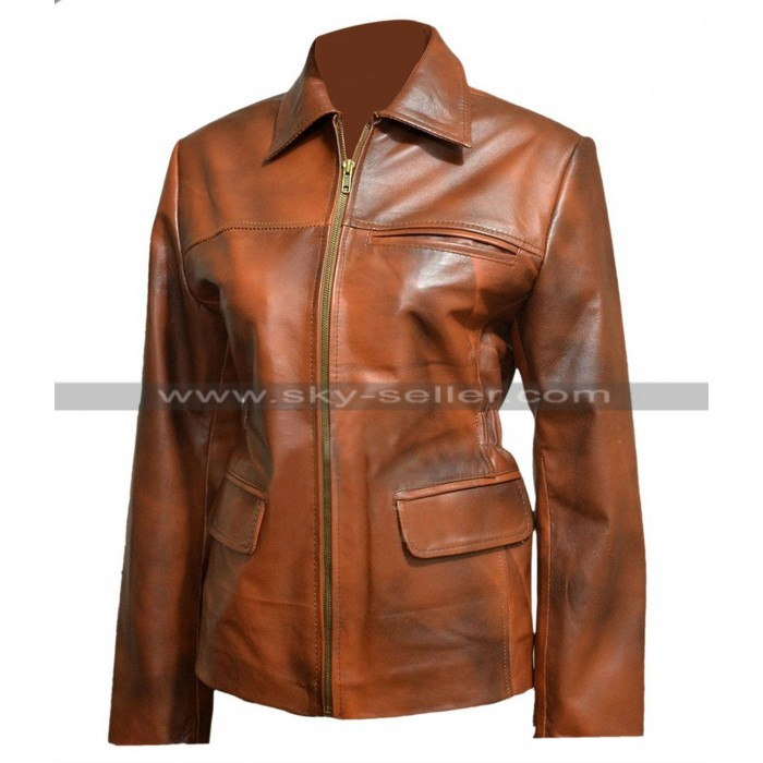 Hunger Games Katniss Everdeen Brown Leather Jacket