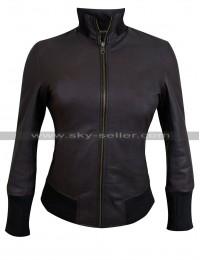 Jennifer Morrison (Emma Swan) Brown Lambskin Bomber Jacket