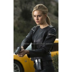 Maggie Grace Faster Lily Quilted Black Leather Jacket
